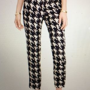 J. Crew Silk Twill Pant in Wolfstooth Houndstooth
